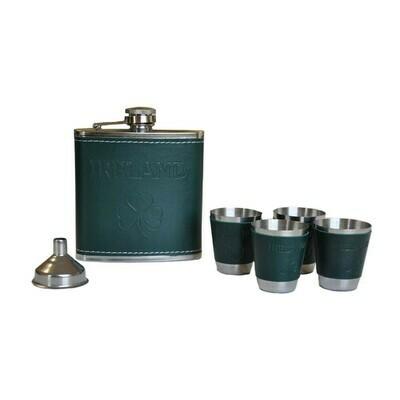 Flask Set-Irish Clover
