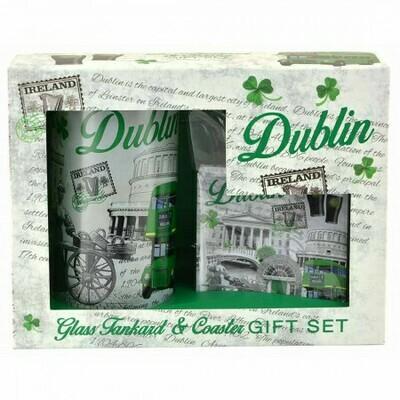 Dublin Tankard & Coaster Set