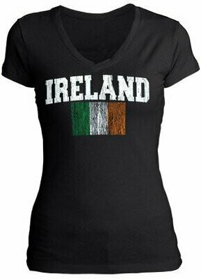Distressed V Neck T-Shirt