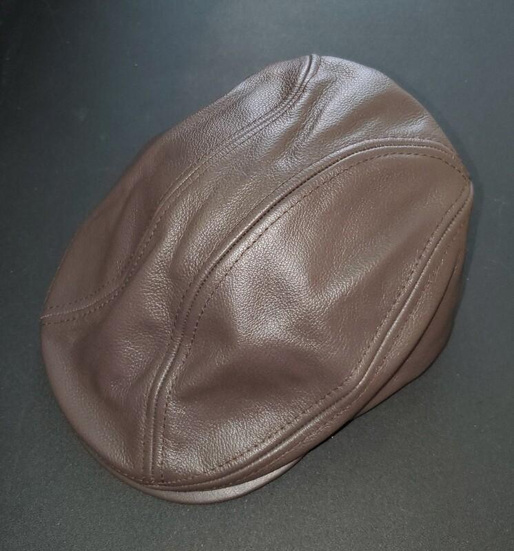 Applejack Ivy Leather Cap