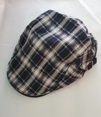 Irish Golf Cap-Black & Tan