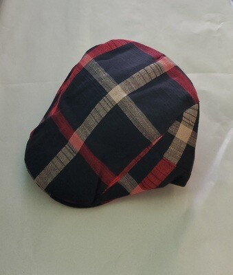 Irish Golf Cap-Black & Red