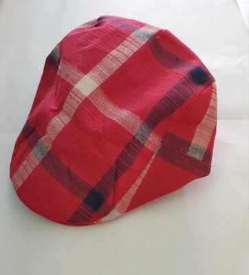 Irish Golf Cap-Red & Black