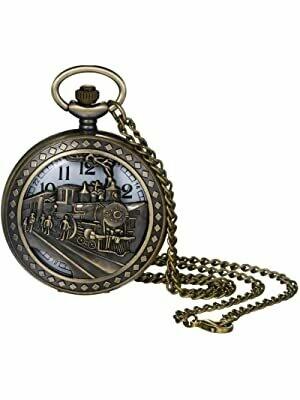 Bronze Locomotive Pocket Watch