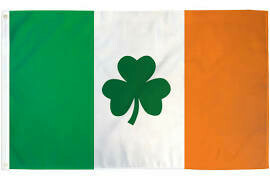 Shamrock Ireland Flag 3x5