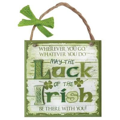 Rustic Sign-Luck of Irish