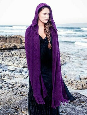 Aran Hooded Shawl