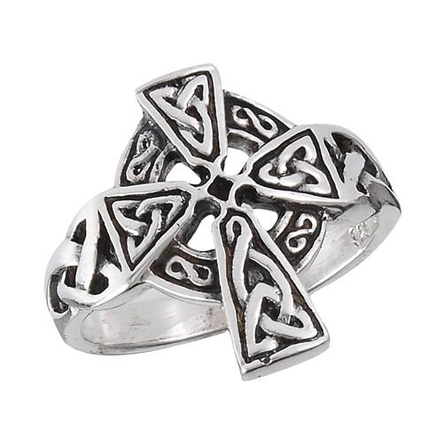 SS Celtic Cross Ring