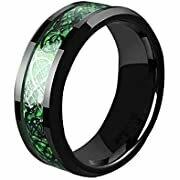 Titanium Celtic Dragon Ring