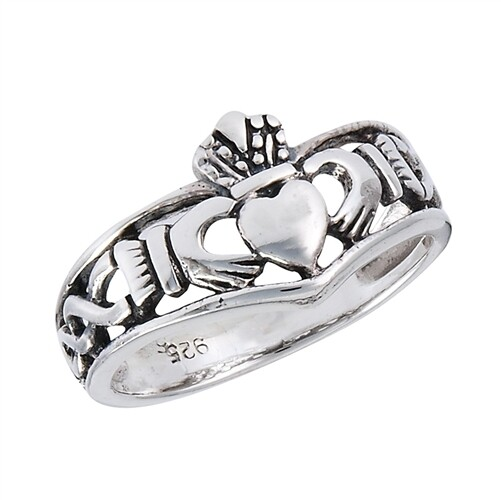 SS Claddagh Weave Ring