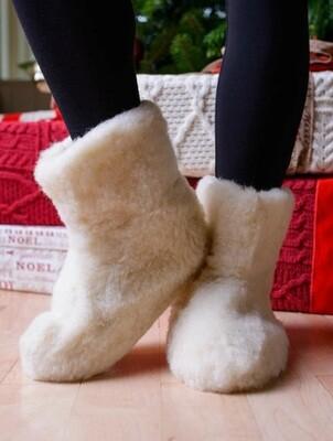 Aran Wool Booties