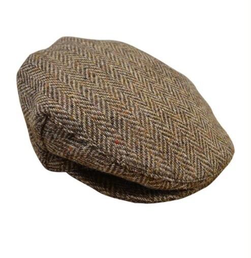Tweed Herringbone Flat Cap