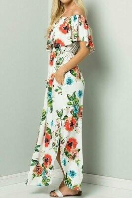 Floral Off Shoulder Maxi