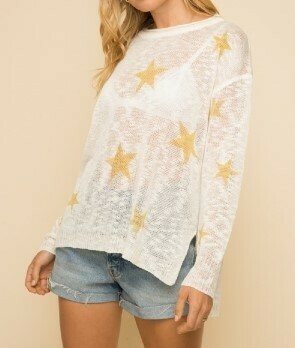 Golden Stars Sweater