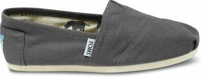 Grey Canvas Toms