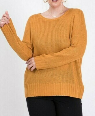 Mustard Open Back Sweater