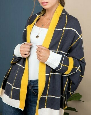 Navy And Gallo Kimono Cardigan