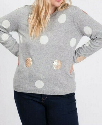 Sequins Polka Dot Sweater