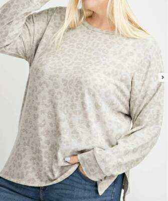 Soft Leopard Long Sleeve Top