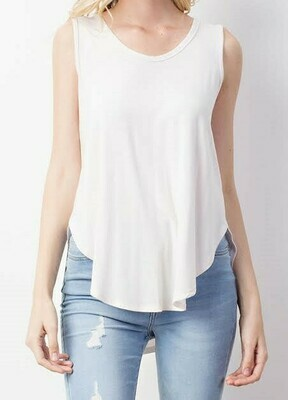 High Low Bamboo Knit Tank