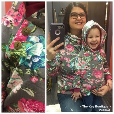Floral Frenzy Double Hooded Sweater