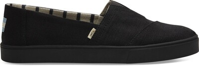 Black Canvas Toms