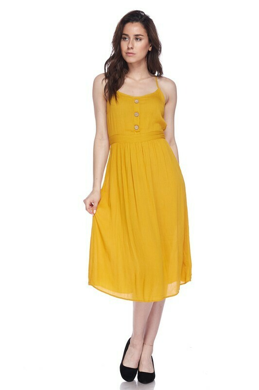 Button Accented Dress