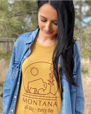 Mustard Montana All Day Tee