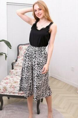 Leopard Print Gaucho Pants