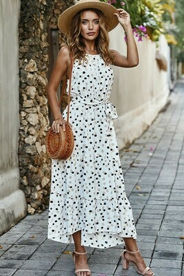 High Low Spotted Dress