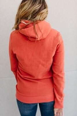 Single Hood Orange Sweater