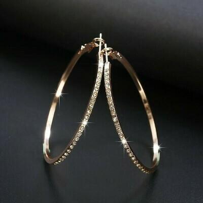 Big Hoop Rhinestone Earrings