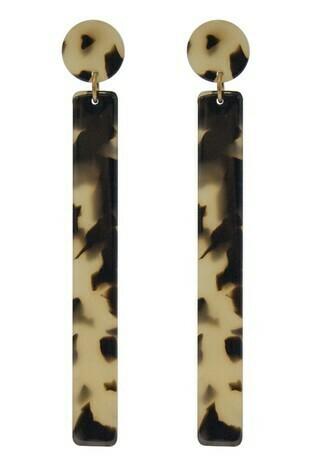 Long Cheetah Earring