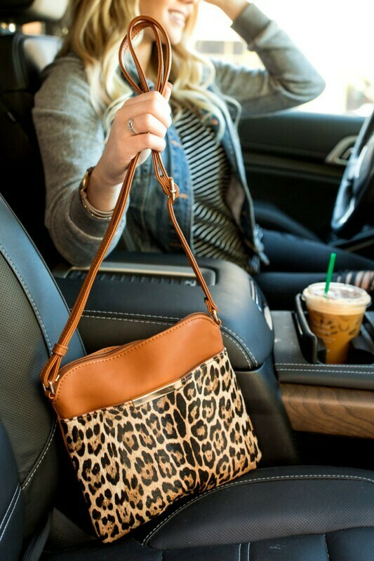 Leopard Cross Body Bag