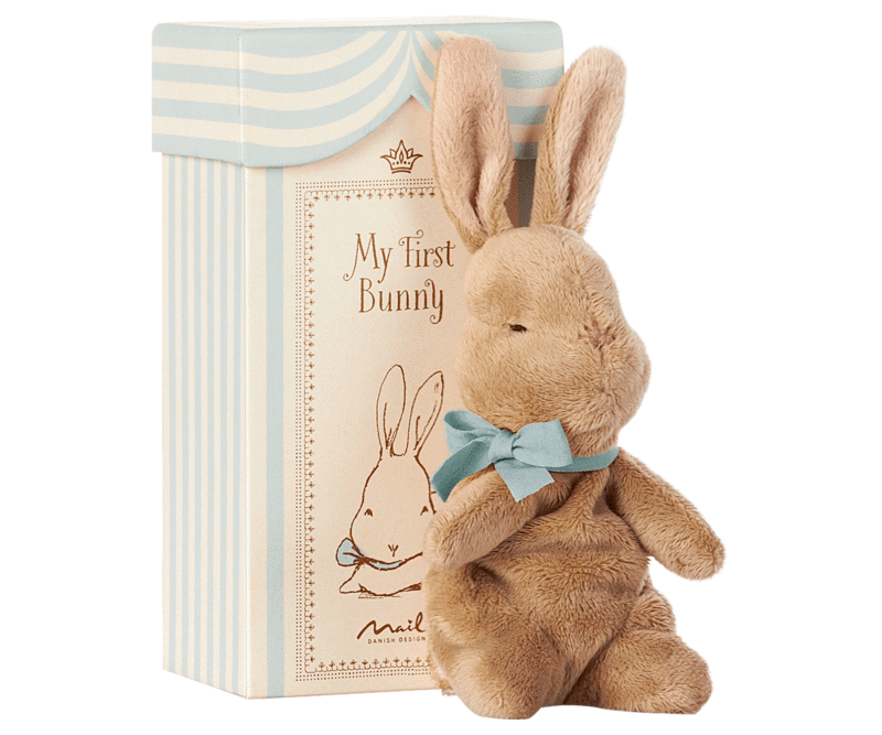 MY FIRST BUNNY IN A BOX, BLUE