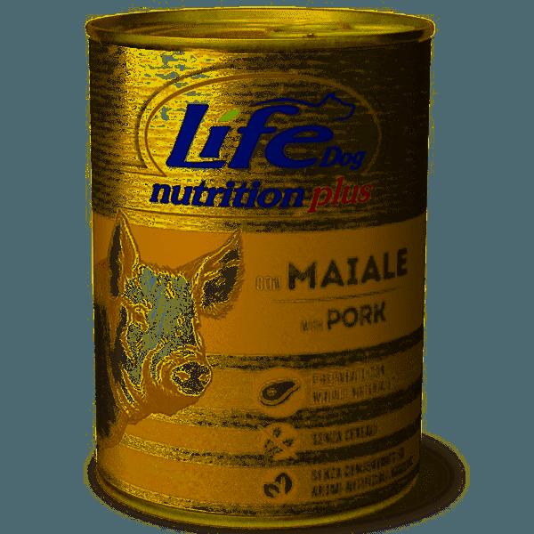 Life Dog Nutrition Plus Con Maiale 400 Gr