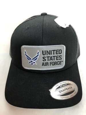 USAF TRUCKER HAT BLK