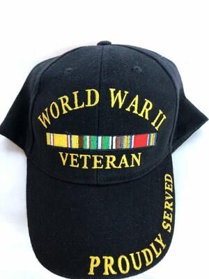 WORLD WAR II VET SVC RIBBION HAT-CP00595
