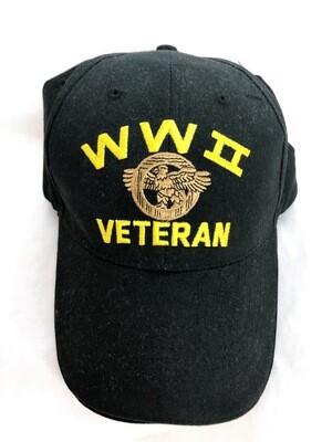 WW II VETERAN PATCH HAT