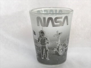 NASA SHOT GLASS ON THE MOON