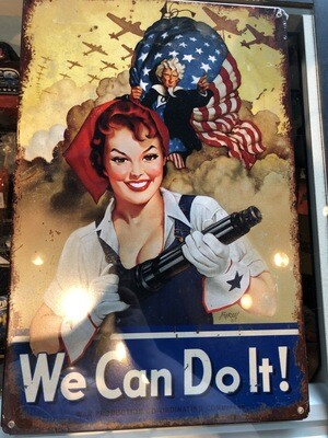 ROSIE WAR SIGN WE CAN DO IT BVL007-FLAG/PRESIDENT