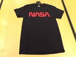 NASA WORM BLK TEE