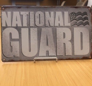 NATIONAL GUARD SIGN