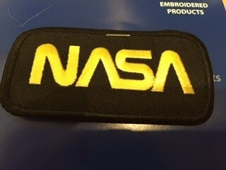 NASA BLK/GOLD PATCH-7402