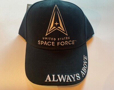 SPACE FORCE BLK HAT