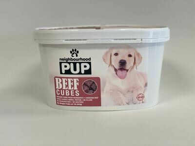 Beef Cubes Tub- Raw Meal