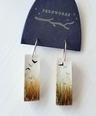 Fernworks Bird Meadow Earrings