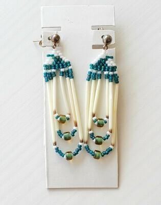 Beaded Porcupine Earrings Small