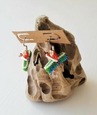 Beaded Kayak Earrings
