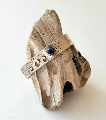 Open Ocean Bracelet W/ Lapis